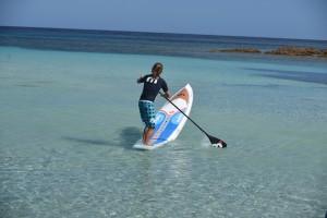 ... und fehlen die Wellen, kann man paddelsurfen.